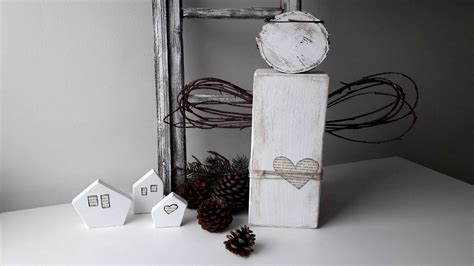 Rustic Wooden Angel Christmas Home Decor Youtube