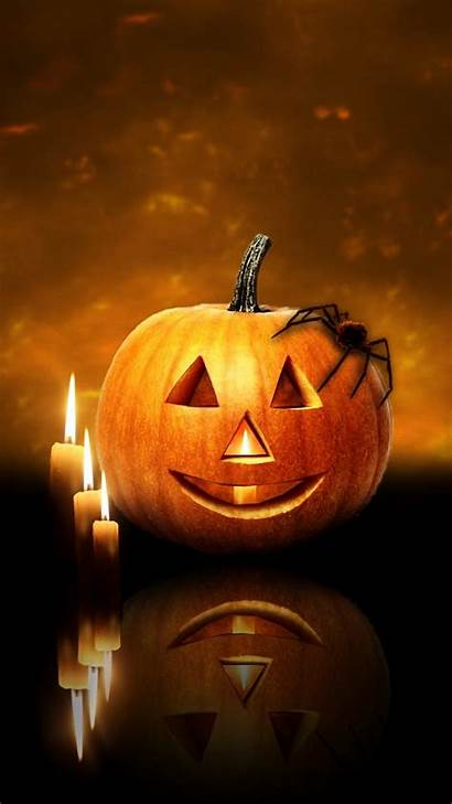Halloween Iphone Pumpkin Happy Gifs Candles Scary