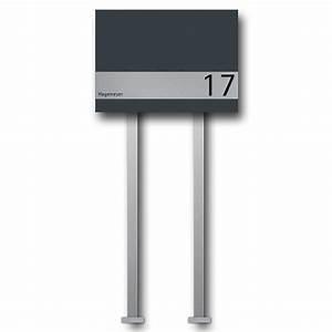 Briefkasten Freistehend Mit Hausnummer : briefkasten edelstahl b1 big shield freistehend z e ~ Sanjose-hotels-ca.com Haus und Dekorationen