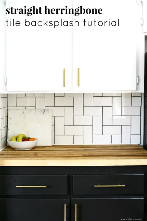 Kitchen Tile Backsplash Patterns by Herringbone Tile Backsplash Tutorial In 2019