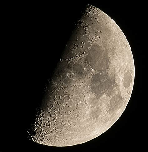 First Quarter Moon at 300mm