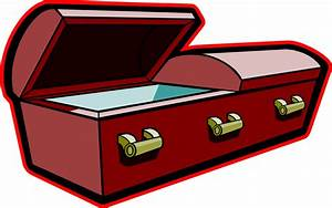 Funeral clipart box - Pencil and in color funeral clipart box