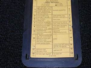 1972 350sl  450sl Fuse Panel Electrical
