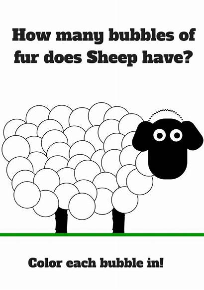 Sheep Shaun Printables Coloring Printable Template Bubbles