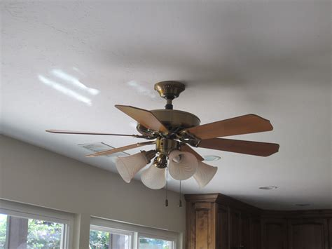 changing a ceiling fan replace recessed light fixture with ceiling fan