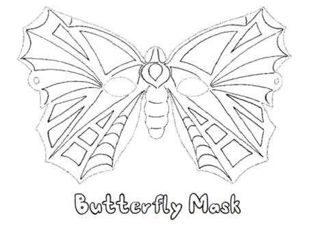 printable cut  butterfly mask coloring  mask