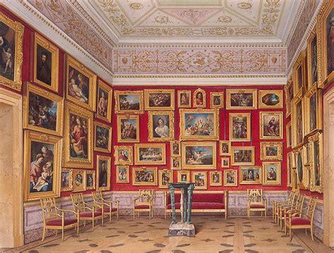 interiors    hermitage  study  italian art