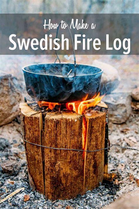 swedish fire log swedish fire log camping