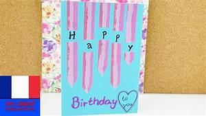 Forer Un Puits Soi Même : jolie carte d 39 anniversaire faire soi m me avec du washi ~ Premium-room.com Idées de Décoration