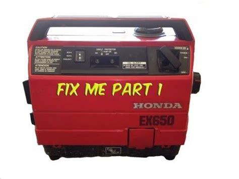 Part 1 Honda Ex650 Generator Needs Help   YouTube