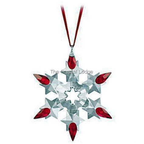 swarovski swarovski 2010 holiday christmas ornament red