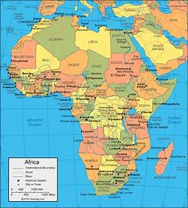 Physical Map of Africa - Africa Political Map