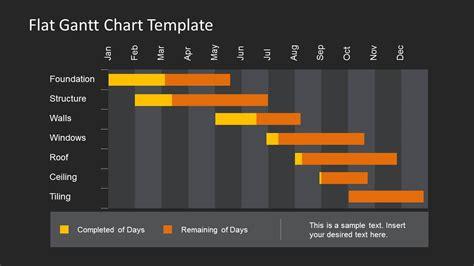 bars for home use flat gantt chart template for powerpoint slidemodel