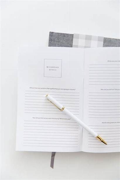 Miscarriage Promptly Journals Printable Infertility Booklet