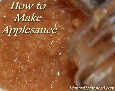 how to cook with applesauce how to make applesauce mama s homestead