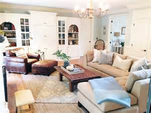 Pottery Barn Style Living Room Ideas before and after a light and lovely family room makeover