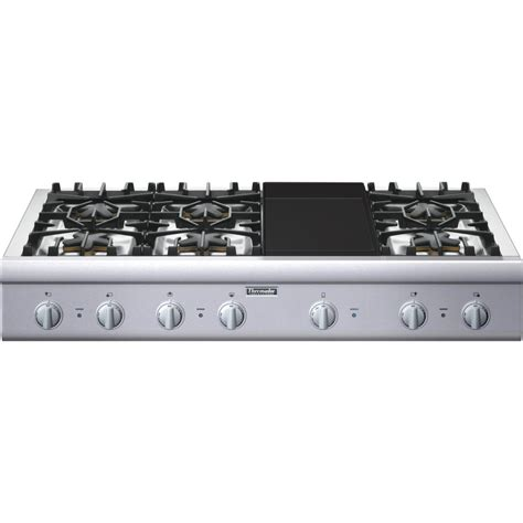 thermador gas cooktop thermador professional pcg486gd 48 quot pro style gas