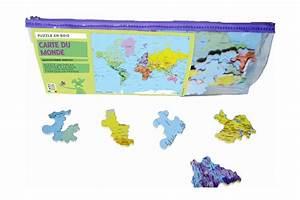 Carte Du Monde En Bois : puzzle en bois carte du monde 50 pi ces fabriqu en france ~ Teatrodelosmanantiales.com Idées de Décoration