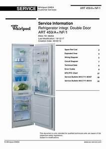 Whirlpool Art 459  A   Nf  1 Refrigerator Service Technicians