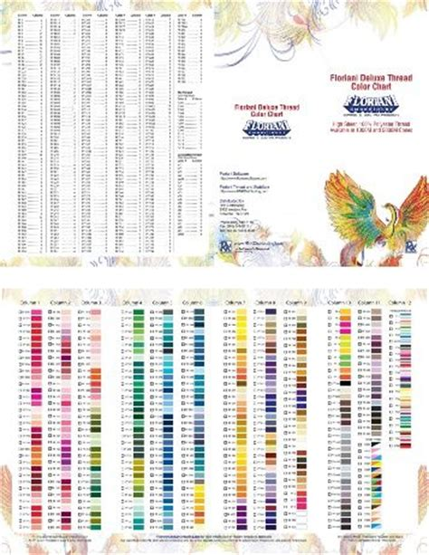 floriani deluxe thread color chart floriani pinterest colors charts  color charts