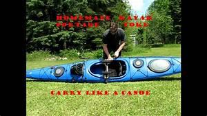 Homemade Kayak Portage Yoke Carry Like A Canoe Test