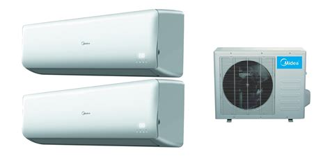 air conditioners midea midea 2x18000 btu dual zone 16 seer inverter mini split