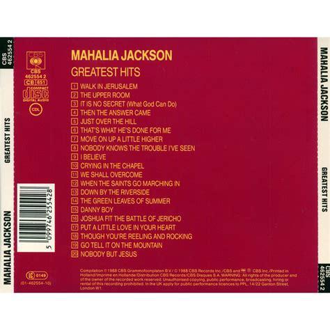 greatest hits album mahalia jackson music