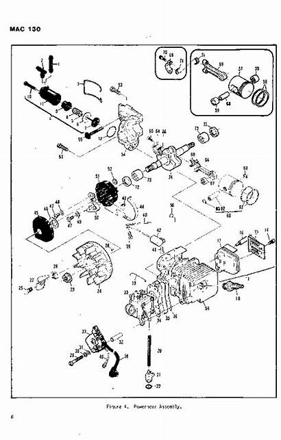 Mcculloch Mac Parts 130 Chainsaw Manual 1982