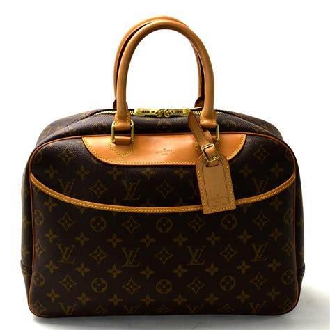 auth louis vuitton monogram bowling vanity tote bag