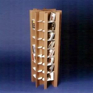Range Cd Colonne : porte cd colonne en carton quart de poil ~ Teatrodelosmanantiales.com Idées de Décoration