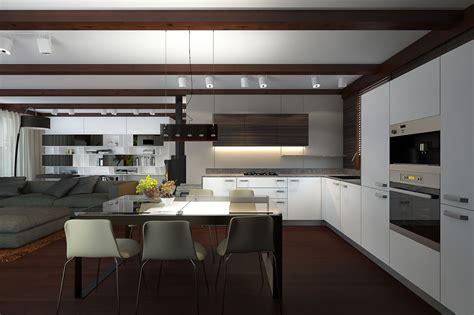 Patīk pelēkā virtuves virsma, krēsli un dīvāns. | Home ...