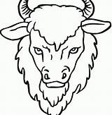 Coloring Bison Buffalo Printable Cape Clipart Sheet Face Getcolorings Getdrawings Webstockreview sketch template
