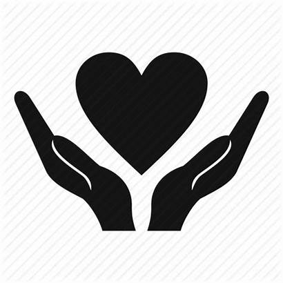 Heart Icon Hands Holding Vector Hand Charity