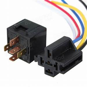 5 X 12v 30  40 Amp Car 5 Wire Terminal Relay Socket Harness