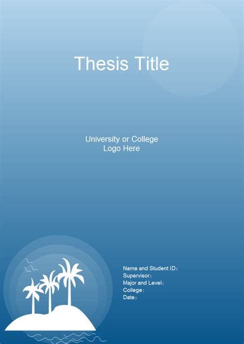 thesis title page  thesis title page templates
