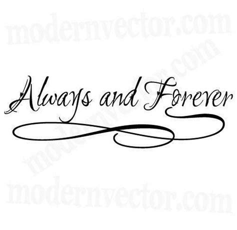 Always And Forever always and forever wall decal ebay