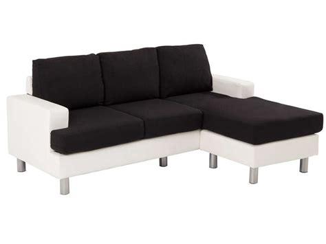 canapé d angle 3 places canapé d 39 angle fixe 3 places en tissu ronane coloris blanc