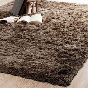 tapis inuit poil long taupe 140x200 With tapis à poils longs