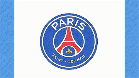 COMO DIBUJAR EL ESCUDO DEL PSG (PARIS SAINT-GERMAIN) - YouTube