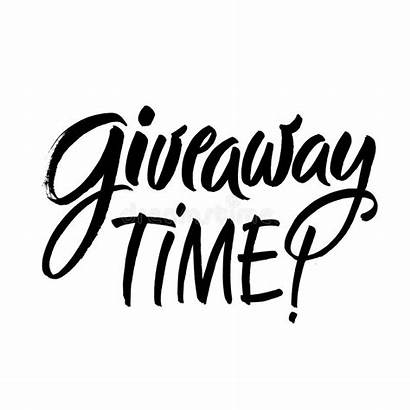 Giveaway Lettering Card Handwritten Calligraphy Phrase Drawn