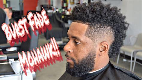 cut hair burst fade curl sponge beard trim