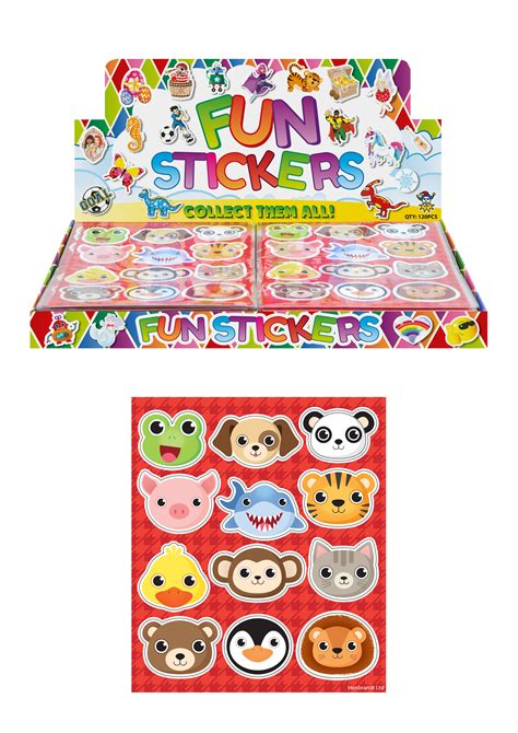 animal sticker sheet favour fairy