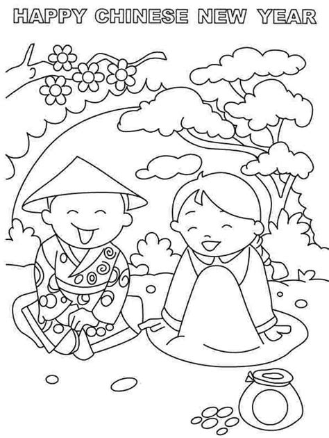 chinese  year coloring pages    print