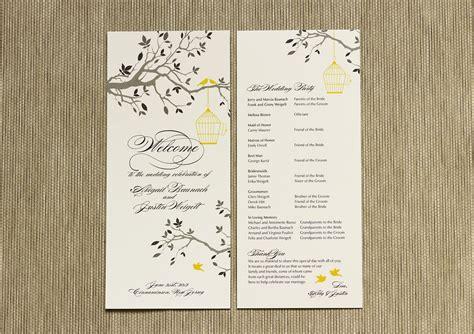 non traditional wedding reception program ideas how to create a wedding program