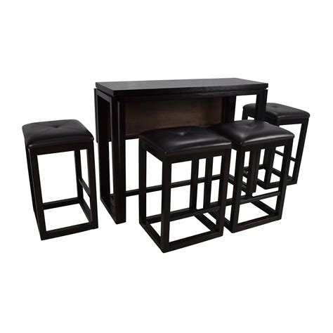 Dining Table With Stools 45 counter height extendable dining table with