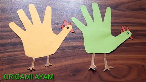 membuat origami ayam mudah youtube