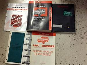 Sell 1997 Toyota 4runner Service Shop Repair Manual Set W Ewd   Supplement   More Oem Motorcycle
