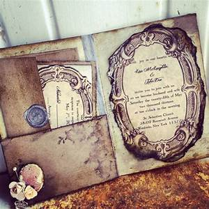 items similar to pocketfold wedding invitations vintage With pocket book wedding invitations