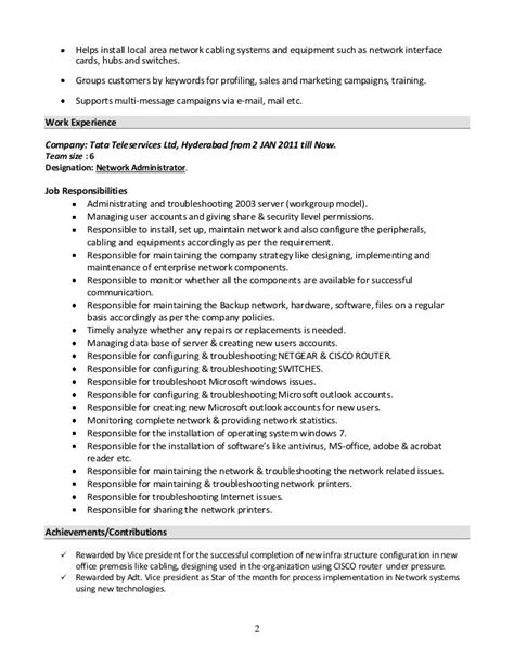 Resume Creator For Linux by Resume Windows System Administrator Specialist S Opinion