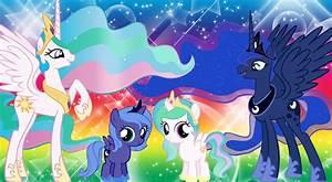 Luna and Celestia Wallpaper by Invader-Zil on DeviantArt